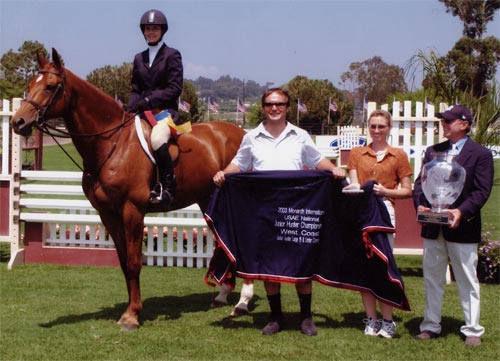 Lifetime owned by Stephanie Danhakl Champion Large Junior 15 & Under 2003 Junior Hunter Finals Photo JumpShot