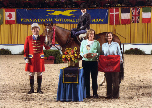 Lily Blavin and Montague Reserve Champion NAL Finals 2012 Pennsylvania National Photo Al Cook
