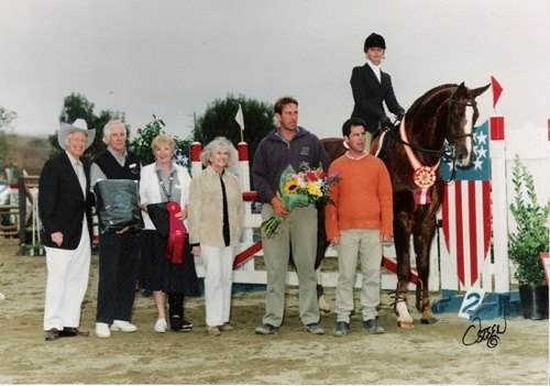 Marissa Banks and Well To Do Reserve Champion 2002 PCHA Medal 14 & Under Portuguese Bend National Photo Osteen