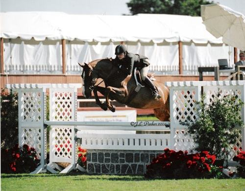 Stephanie Danhakl and Galatea 2004 USEF National Champion Junior Hunter Small 16-17 Photo JL Parker