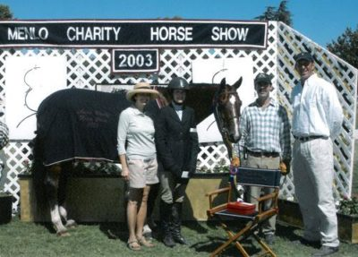 Stephanie Danhakl and Henley Champion Small Junior Hunters 15 & Under 2003 Menlo Charity Photo JumpShot