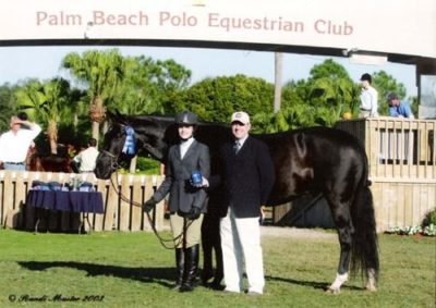 Stephanie Danhakl and Traditions Champion Small Junior 15 & Under 2003 National Horse Show Photo Randi Muster