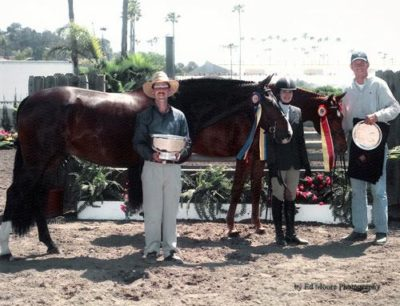 Stephanie Danhakl with Bellingham Bay and Lifetime Champion and Reserve Champion Large Junior Hunters 15–17 2004 Del Mar National Photo Ed Moore