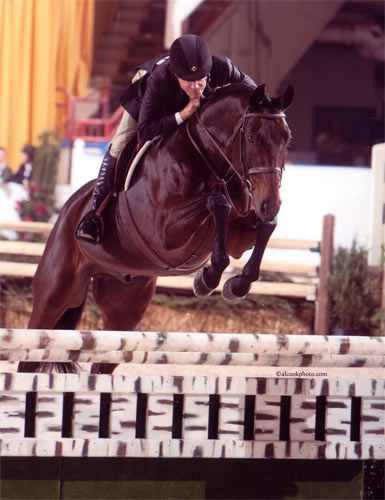 John French and After Five owned by Stephanie Danhakl 1st Year Green Working Hunters 2010 Pennsylvania National Photo Al Cook