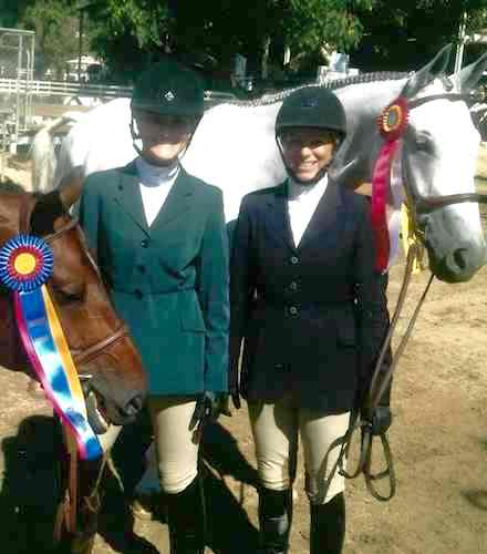"Karin Binz and Walnut Creek with Montana Coady Amateur Owner Hunter 3'3"" 2014 Gold Coast Series Los Angeles Equestrian Center"