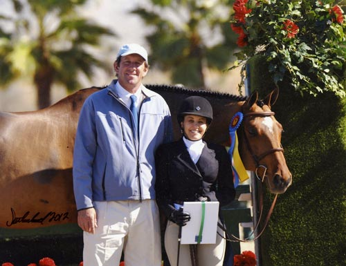 Laura Wasserman and Back in the Game Amateur Owner Hunters 36 & Over 2012 HITS Desert Circuit Photo Flying Horse