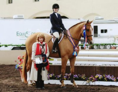 Lucy Davis on Patrick Winner ASPCA Maclay 2009 Del Mar National Photo Osteen