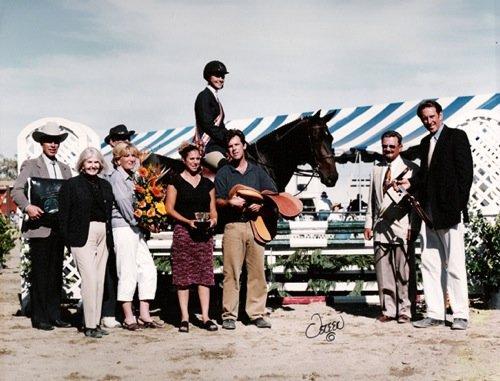 Marissa Banks and Papillion Noir 2002 Pacific Coast Horse Show Association Champion 14 & Under Medal Finals 2002 Portuguese Bend National Photo Osteen