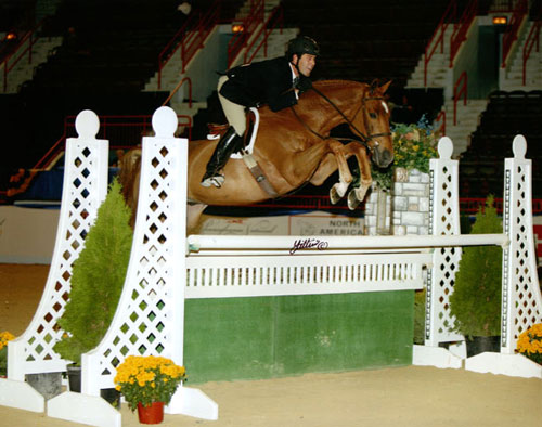 Peter Lombardo and Mandarin owned by Jessica Fraze Regular Conformation Hunter 2008 Pennsylvania National Photo Anne K Gittens