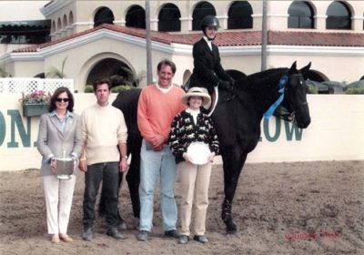 Stephanie Danhakl and Marcellus Champion Equitation Flat 15–17 2003 Del Mar National Photo Quince Tree