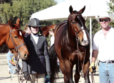 Stephanie Danhakl with Lifetime and Bellingham Bay Large Hunter Champion and Reserve Champion 2004 HITS Desert Circuit