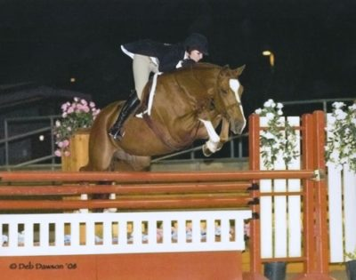 Tina Dilandri and Wesley Champion Small Junior Hunters 2008 Scottsdale Spring Classic Photo Deb Dawson