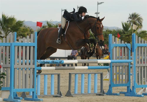 Daphne Harrington and Piper WCE Medal 2012 HITS Desert Circuit Photo Flying Horse