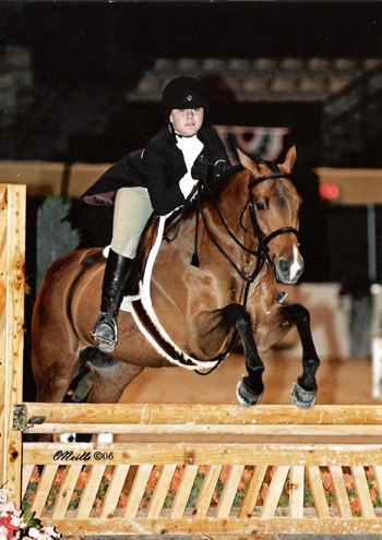 Delanie Stone and Royal Seven Large Pony Hunter Stake 2006 Capital Challenge Horse Show Photo ONeills