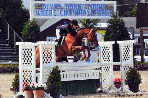 John French and Pringle owned by Ashley Pryde USEF National Champion 2008 First Year Green Hunters Grand Green Hunter Photo Randi Muster