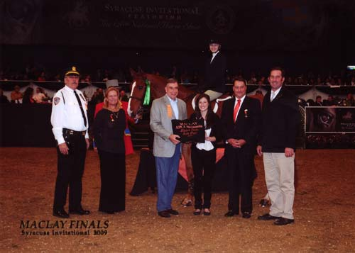 Lucy Davis and Patrick owned by Old Oak Farm ASPCA Finals 2009 Syracuse Invitational Photo Reflections