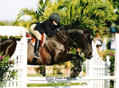 Stephanie Danhakl and Traditions 2002 National Horse Show Photo JL Parker