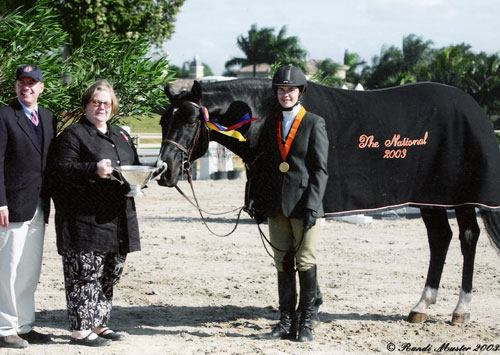 Stephanie Danhakl and Traditions 2003 USEF National Champion Small Junior Hunters 15 and Under Photo Randi Muster