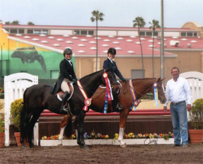Virginia Fout and Regency Reserve Champion Adult Amateur Classic Polly Sweeney and Duet Champion Adult Amateur Classic 2013 Del Mar National Photo Osteen