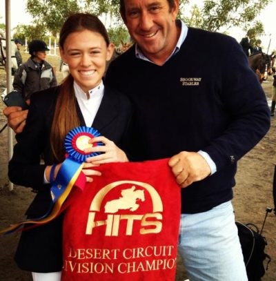Alexandra Worthington and Archie Cox 2013 HITS Desert Circuit