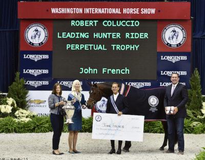 John French and Boss owned by Laura Wasserman Grand Hunter Champion 2015 Washington International Photo Shawn McMillen