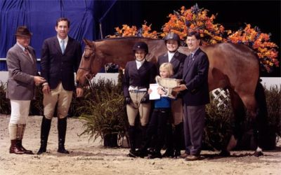 Laura Wasserman and Overseas Overall Best Amateur Hunter Stake 2010 Washington International Photo Al Cook