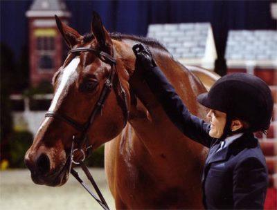 Laura Wasserman and Overseas 2011 Washington International Horse Show Photo Shawn McMillen
