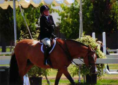 "Gina Ross and Equity A/O 3'3"" Hunter 2012 Menlo Charity Horse Show Photo Bella Peyser"