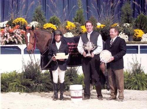 John French and Overseas owned by Laura Wasserman Champion Regular Working Hunters 2006 Washington International Photo Al Cook