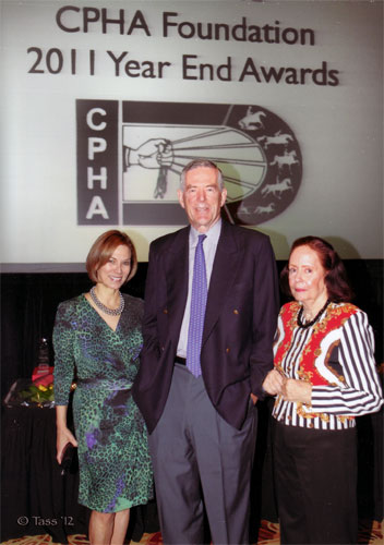 Judy Cox, Archibald Cox, Jr. and Nina Claiborne 2011 CPHA Foundations Banquet Photo Tass Jones
