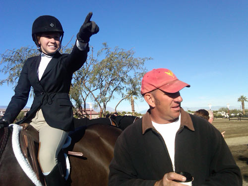 _Archie Cox and Grace Gerber 2011 HITS Desert Circuit