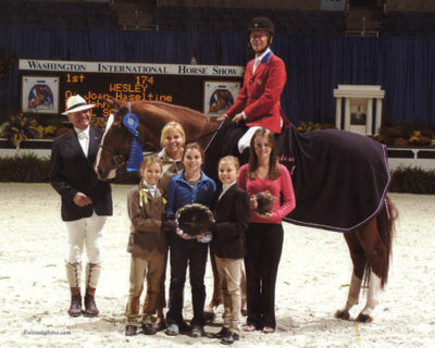 John French and Wesley owned by Joan Hasteltine Hunter Derby 2007 Washington International Photo Al Cook