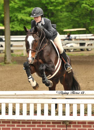 Jessica Singer and Point Taken 2013 Saratoga Spring Photo Flying Horse