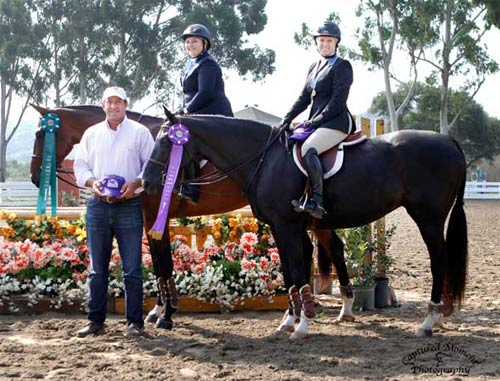 Chelsea Samuels and Virginia Fout with Archie Cox CPHA Foundation Finals 22 & Over 2013 Showpark Summer Classic Photo Captured Moment