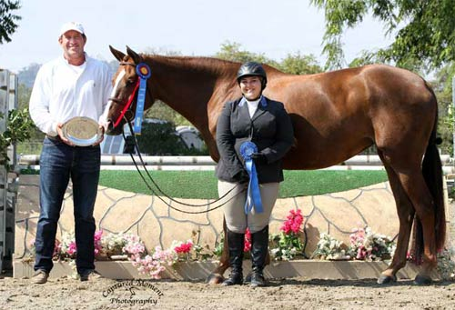 Chelsea Samuels and Adele with Archie Cox Champion Low A/O Hunter 18-35 2013 Showpark Summer Photo Captured Moment