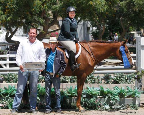 Chelsea Samuels and Adele with Archie Cox and Damien Gardner Champion Low A/O Hunter Classic 18-35 2013 Showpark Summer Photo Captured Moment