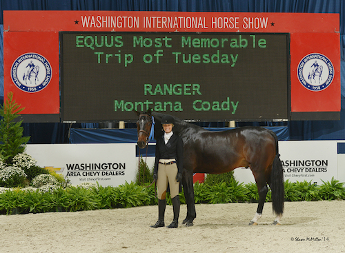 Montana Coady and Ranger EQUUS Most Memorable Trip of Tuesday 2014 Washington International Photo Shawn McMillen