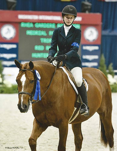 Hunter Siebel and Red Rooster Small Junior Hunter 15 & Under 2015 Washington International Photo Shawn McMillen