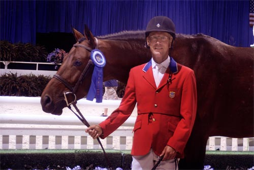 John French and Scout owned by Stephanie Danhakl 1st Year Green Working Hunters 2007 Washington International Photo Al Cook