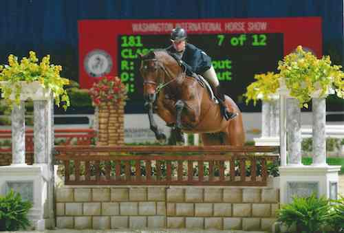 "Virginia Fout and Classified Amateur Owner Hunter 3'6"" 2014 Washington International Photo Shawn McMillen"