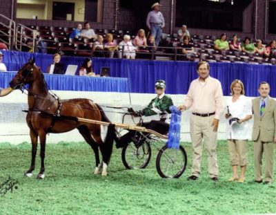 Archie Cox Stephanie Wheeler and Chuck Walker Presenting at the 2009 Saddlebred World Championship Show Louisville KY