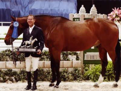John French and Overseas owned by Laura Wasserman Regular Conformation Stake 2011 Washington International Horse Show Photo Shawn McMillen