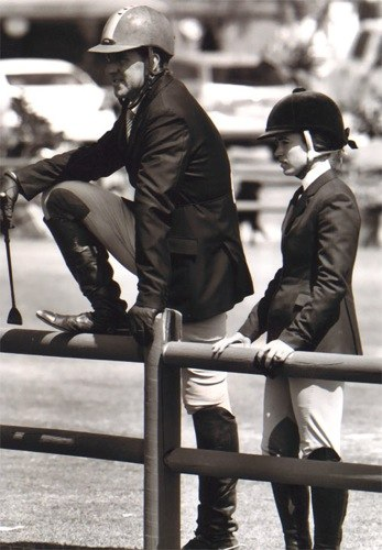 Archie Cox and Teddi Mellencamp 2008 Oaks Blenheim Photo Cathrin Cammett
