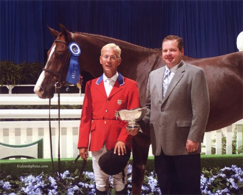 John French and Andiamo owned by Janie Andrew Winner 2nd Year Green Hunters 2007 Washington International Photo Al Cook