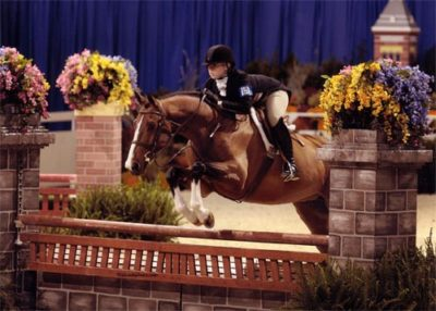 Ashley Pryde and Falcao Small Junior Hunters Washington International Photo Al Cook