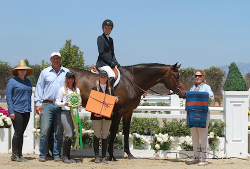 Hunter Siebel and As Always Champion Junior Hunter Classic 2015 Sonoma Horse Park Photo Deb Dawson