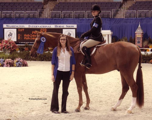 Ashley Pryde and Pringle Winner Small Junior Hunters Photo Al Cook