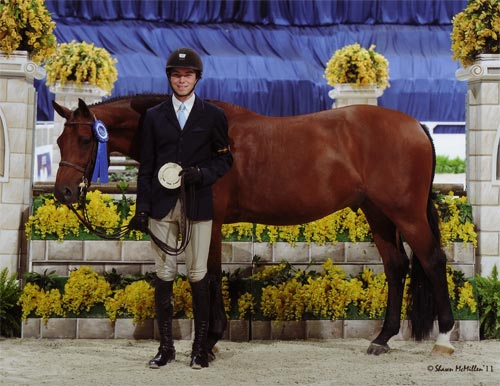 Chase Boggio and Kennzo de Conte Winner Small Junior Hunter 16-17 2011 Washington International Horse Show Photo Shawn McMillen