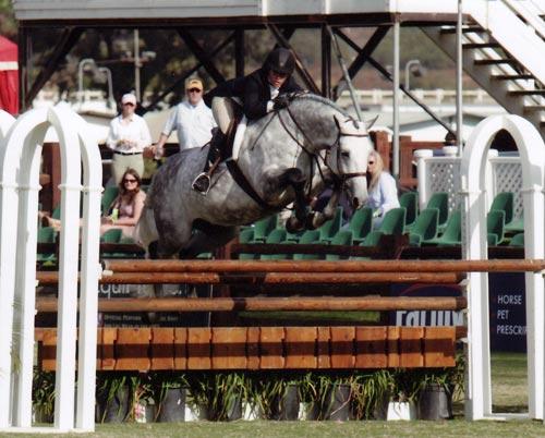 Teddi Mellencamp and Cruise owned by Jessica Singer $10,000 USHJA Intl Hunter Derby 2010 Showpark Photo Horse in Sport