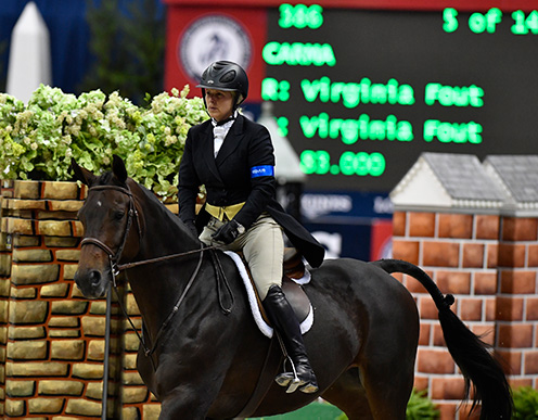 "Virginia Fout and Carma 2016 Washington International Amateur Owner Hunter 3'3"" Champion"